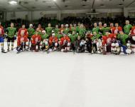 Humanitarni derbi hokejskih legend Olimpija vs Jesenice