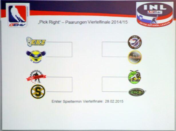 Četrtfinalni pari v INL (foto: Drago Cvetanovič)