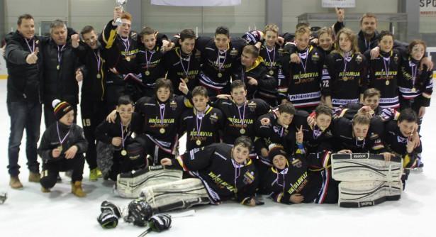 Zasluženo slavje mladih Založanov (foto: HK Slavija jr.)
