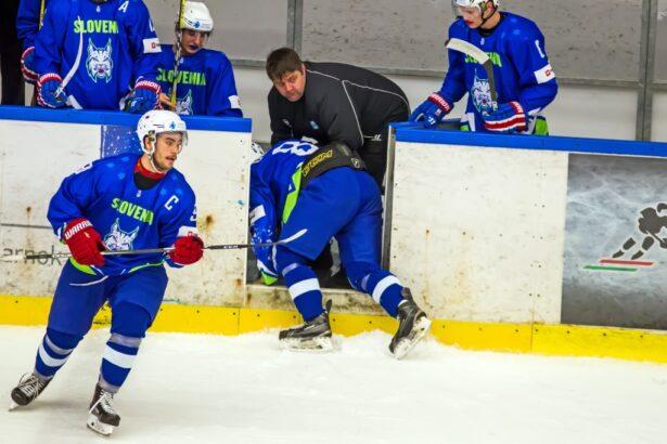 Gašper Glavič se je nasadil na zlomljen del palice in končal s tekmo