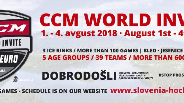 Selekciji U15 in U16 na mednarodnem turnirju CCM Euro Invite Bled 2018