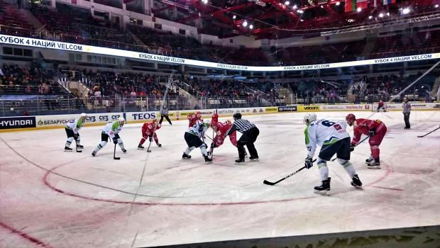 Beloruski hokejisti pretrd oreh za naše rise