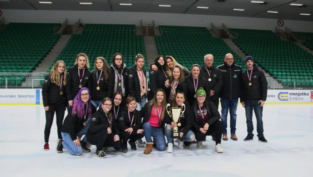 Hokejistke Olimpije še tretjič zapored državne prvakinje